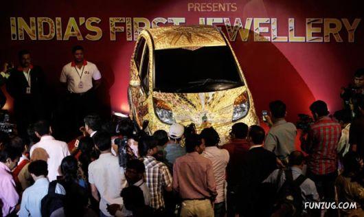 Tata Nano Launches 22 Karat Gold Plated Model