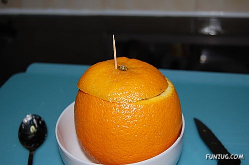 Steamed Orange Recipe for Cough