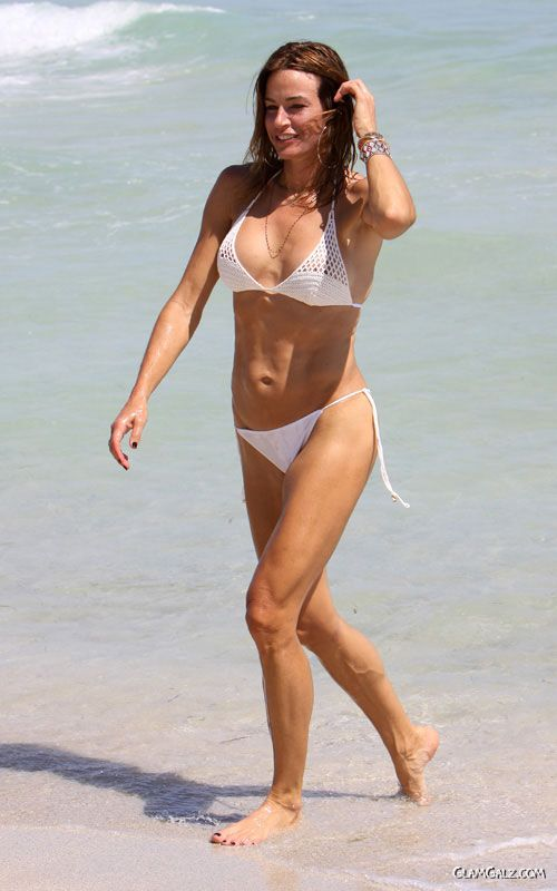 Kelly Bensimon in White Bikini