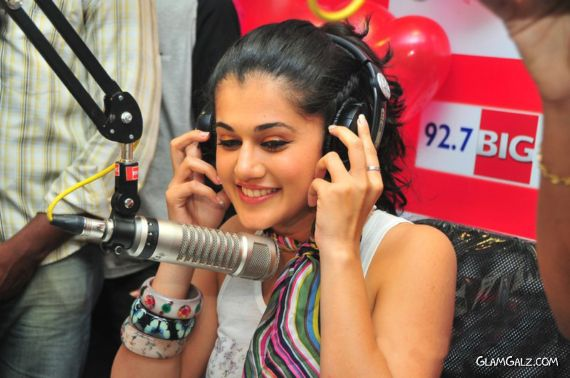 Smiling Actress Tapsee Gossiping At Big Fm
