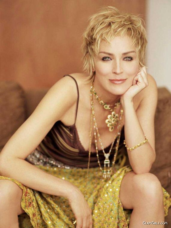 Gorgeous American Actress Sharon Stone