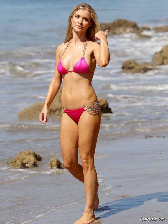 Joanna Krupa Bikini Fun In Santa Monica