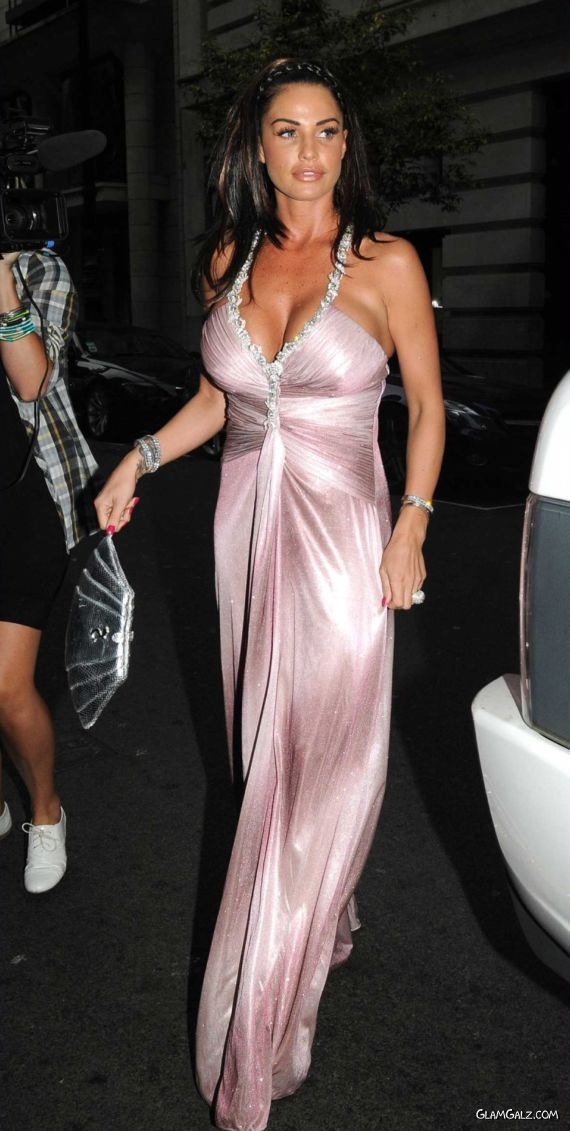 Katie Price Throws Barbie Themed Party