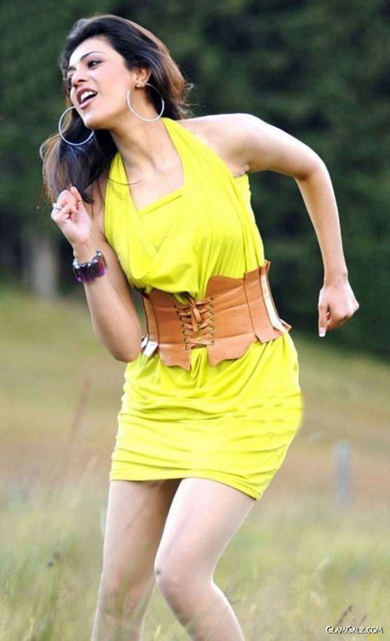 Lovely Kajal Agarwal in Yellow Dress