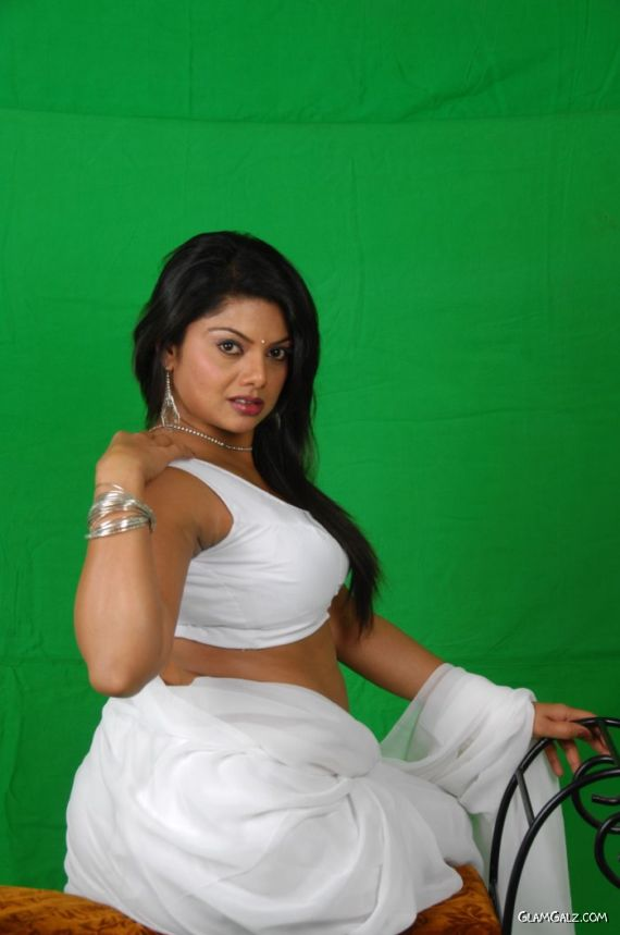 Swathi Verma In White Amazing Saree
