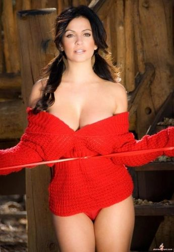 Awesome Denise Milani in Red
