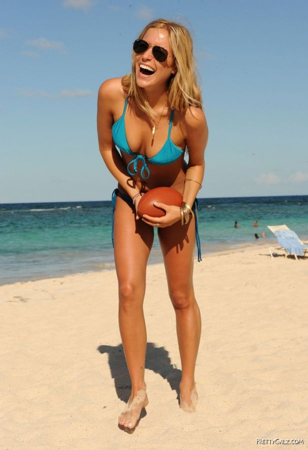 Kristin Cavallari Bikini Football Shoot