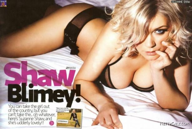 Sizzling Suzanne Shaw Loaded