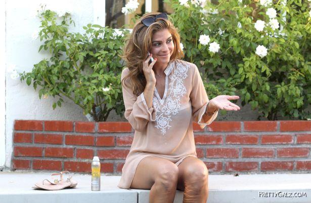 Maria Menounos Relaxing In Encino