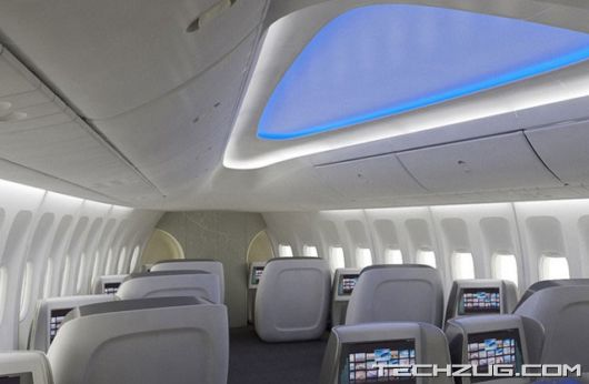 A First Look Inside the New Boeing 747-8