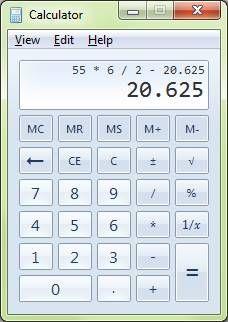 Cool Windows 7 Calculator!